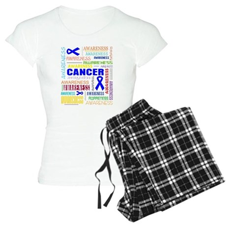 Colon Cancer Awareness Collage Women's Light Pajam