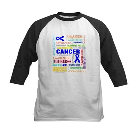 Colon Cancer Awareness Collage Kids Baseball Jerse