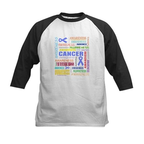 Esophageal Cancer Awareness Collage Kids Baseball