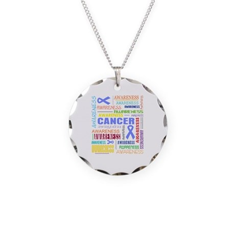 Esophageal Cancer Awareness Collage Necklace Circl