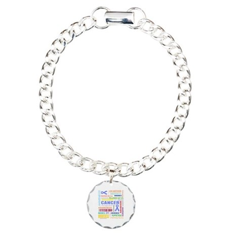 Esophageal Cancer Awareness Collage Charm Bracelet