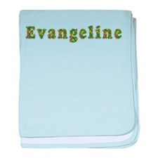 Evangeline Floral baby blanket