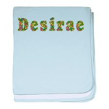 Desirae Floral baby blanket