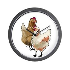 chicken whimsy Wall Clock