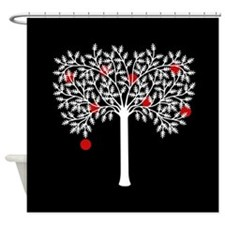 Gothic Apple Tree Shower Curtain