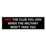 Anti-Republican: NRA (Bumper) Bumper Bumper Sticker