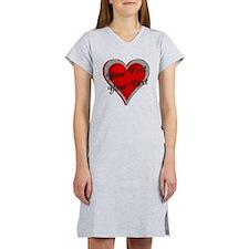 Crimson Heart Women's Nightshirt
