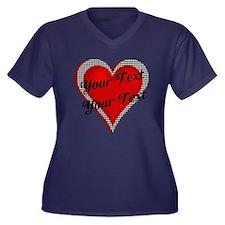 Crimson Heart Women's Plus Size V-Neck Dark T-Shir