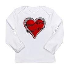 Crimson Heart Long Sleeve Infant T-Shirt