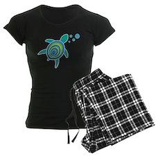 Ocean Doctor Sea Turtle Logo Women's Dark Pajamas