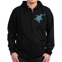 Ocean Doctor Sea Turtle Logo Zip Hoodie (dark)