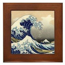 Unique Tsunami Framed Tile