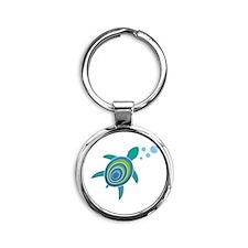 Ocean Doctor Sea Turtle Round Keychain