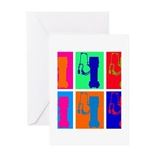 respiratory vent popart SQUARE.PNG Greeting Card