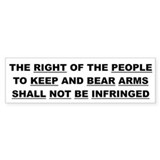 2nd Amendment Plain & Simple Bumper Bumper Sticker