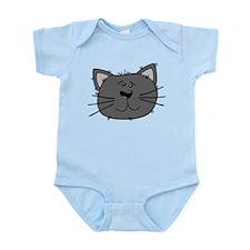 Grey Cat Infant Bodysuit