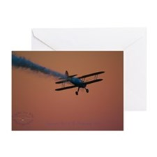Unique P 51 aviation art Greeting Cards (Pk of 10)