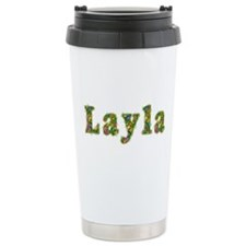 Layla Floral Ceramic Travel Mug