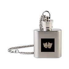 Drama Masks Flask Necklace