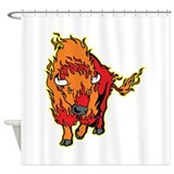 Fire Bison Shower Curtain