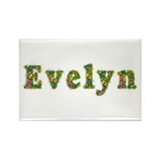 Evelyn Floral Rectangle Magnet