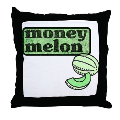 Honeydew: The Money Melon Throw Pillow