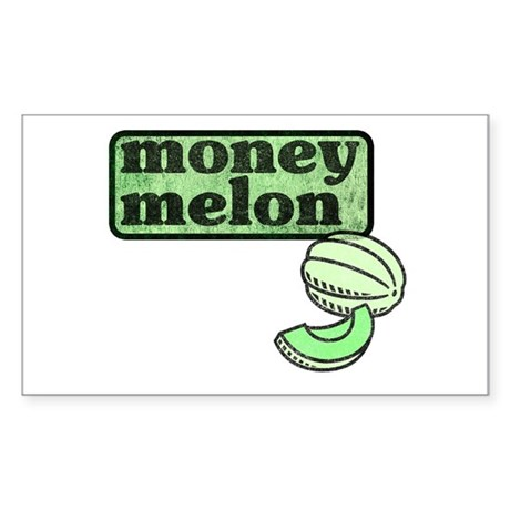 Honeydew: The Money Melon Rectangle Sticker
