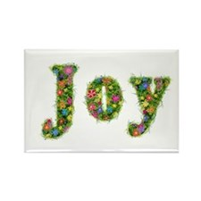 Joy Floral Rectangle Magnet