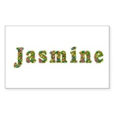 Jasmine Floral Rectangle Decal
