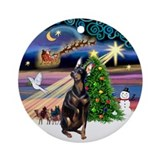 Xmas Magic &amp; Manchester (crpd) Ornament (Round)