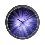 Iced Blue Star - Wall Clock
