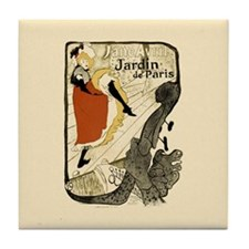 Vintage Cancan Poster Art Tile Coaster