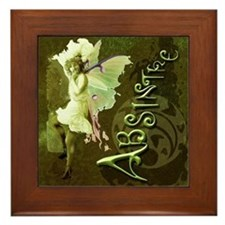 Absinthe Collage Framed Tile