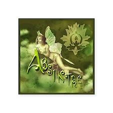 "Absinthe Fairy Collage Square Sticker 3"" x 3"""