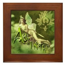 Absinthe Fairy Collage Framed Tile