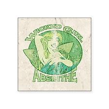 "Vintage Wicked Girl Absinthe Square Sticker 3"" x 3"