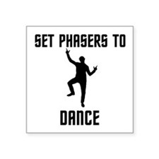 "Dancing Spock Square Sticker 3"" x 3"""