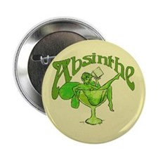 "Fairy In Glass Absinthe 2.25"" Button"