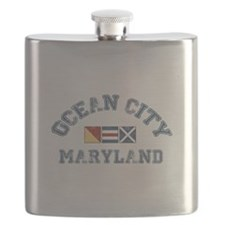 Ocean City MD - Nautical Design. Flask
