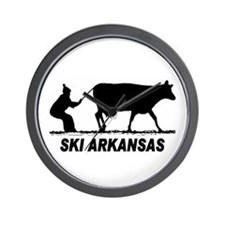 The Ski Arkansas Shop Wall Clock