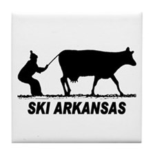 The Ski Arkansas Shop Tile Coaster