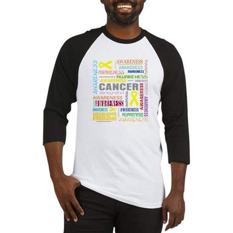Ewings Sarcoma Awareness Collage Baseball Jersey
