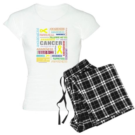 Ewings Sarcoma Awareness Collage Women's Light Paj