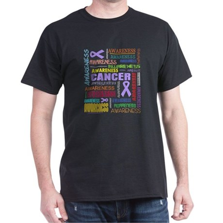 General Cancer Awareness Collage Dark T-Shirt