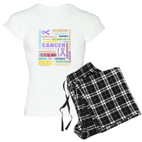 General Cancer Awareness Collage Women's Light Paj