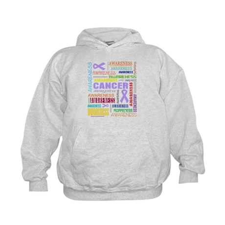 General Cancer Awareness Collage Kids Hoodie