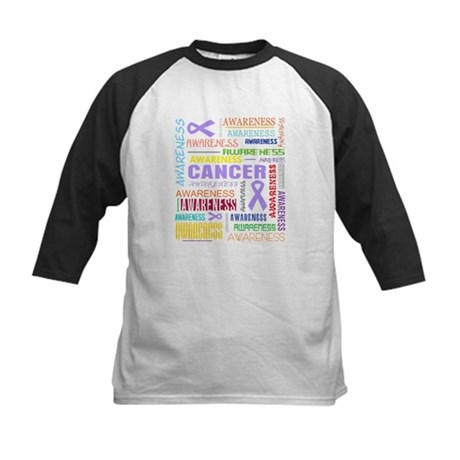 General Cancer Awareness Collage Kids Baseball Jer