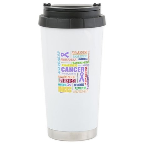 General Cancer Awareness Collage Ceramic Travel Mu