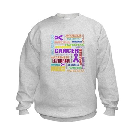 GIST Cancer Awareness Collage Kids Sweatshirt