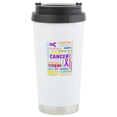 GIST Cancer Awareness Collage Ceramic Travel Mug